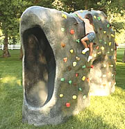 playground rocks to climb and learn