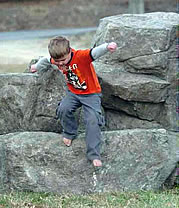 medium boulder for playground rocks